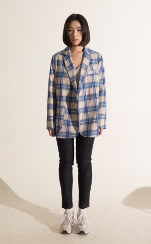 Double Check Wool Jacket