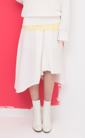 Unbal Flare Skirt