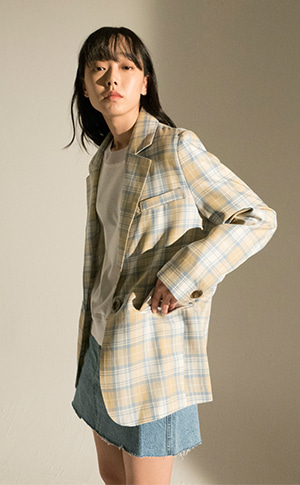 Tartan Wool Check Jacket
