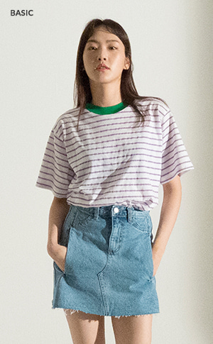 Metallic Stripe T