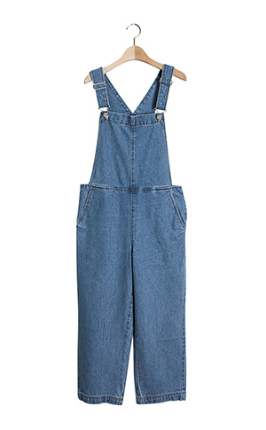 Denim Suspenders Jumpsuit