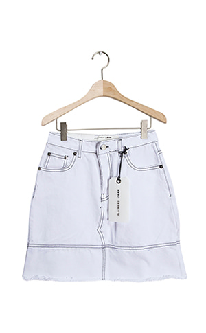 Stitch White Skirt