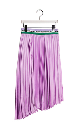 Unbal Pleats Skirt