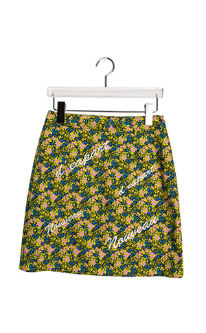 Flower Needlepoint Skirt