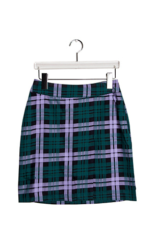 Check Mini Wrap Skirt
