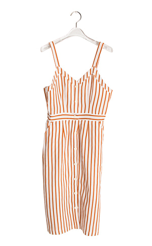 Linen Suspenders Dress