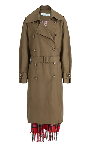 Muffler Coloring Trench Coat