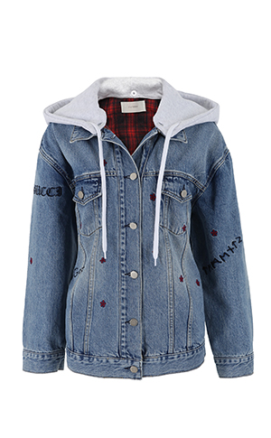 Patch Needlepoint Jean Jacket